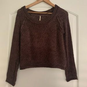 Free People Brown Knit Sweater